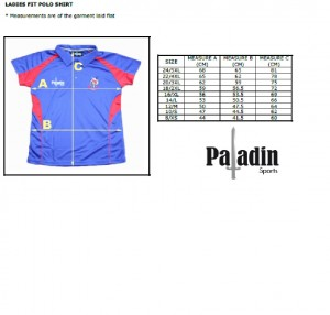 polo shirt measurements